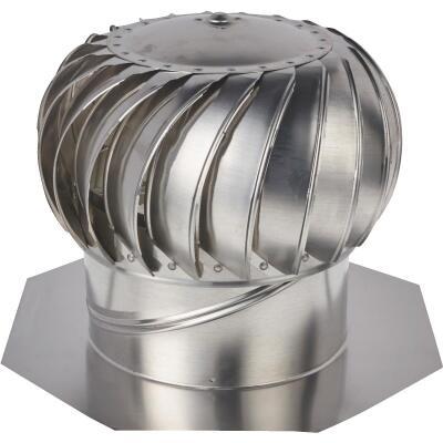 """Ventamatic Cool Attic 12"""" Aluminum Mill Wind Turbine Attic Vent"""