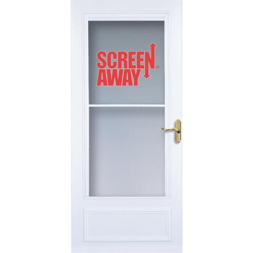 Larson Screenaway Lifestyle 36 In. W. x 80 In. H. x 1 In. Thick White Mid View DuraTech Storm Door