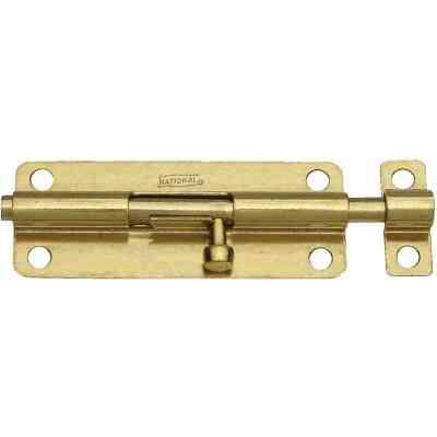 National 5 In. Brass Steel Door Barrel Bolt