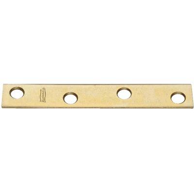 National Catalog 118 4 In. x 5/8 In. Brass Steel Mending Brace (4-Count)