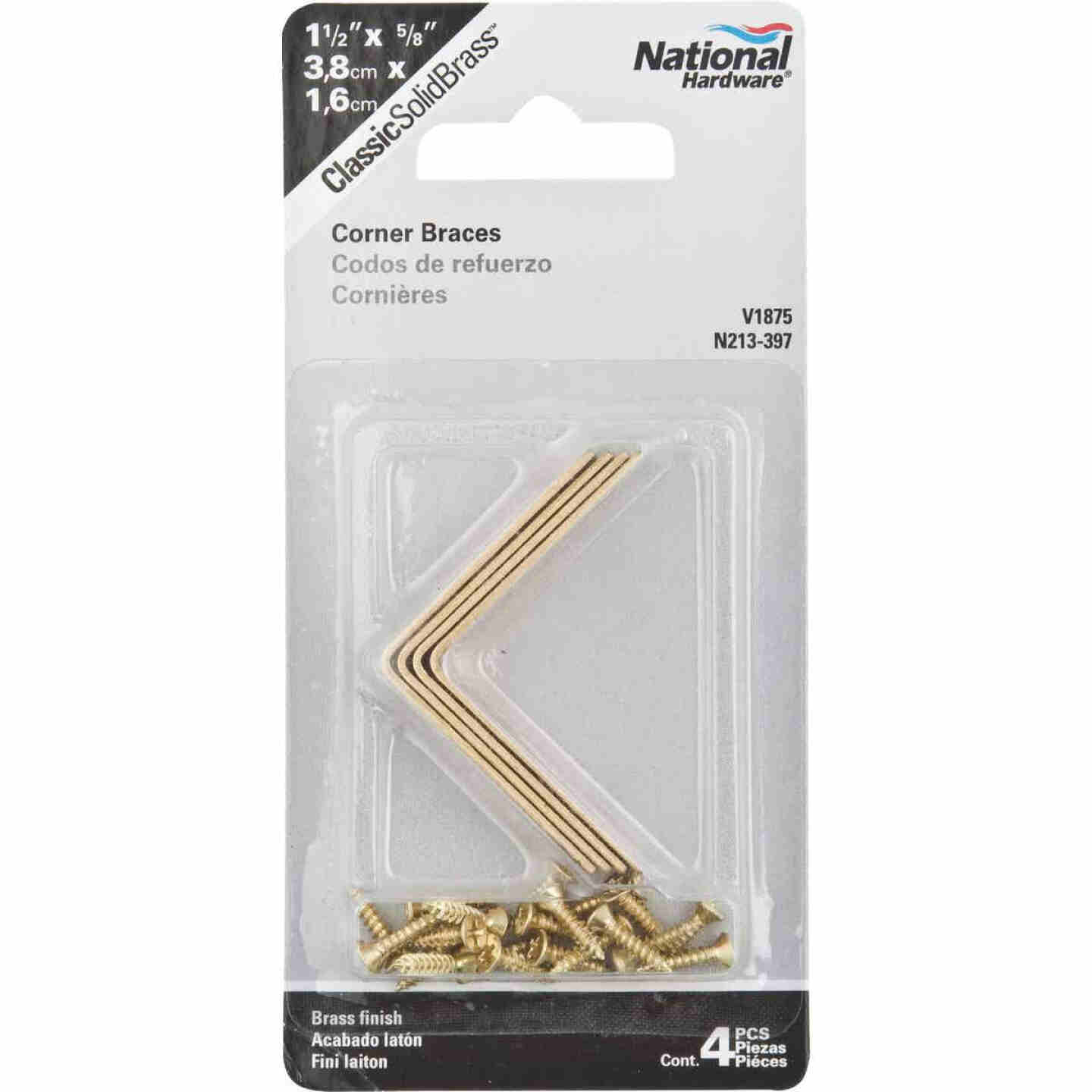 National Catalog V1875 1-1/2 In. x 5/8 In. Solid Brass Corner Brace Image 2