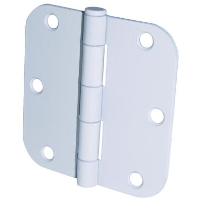 Ultra Hardware 3-1/2 In. x 5/8 In. Radius White Door Hinge (3-Pack)