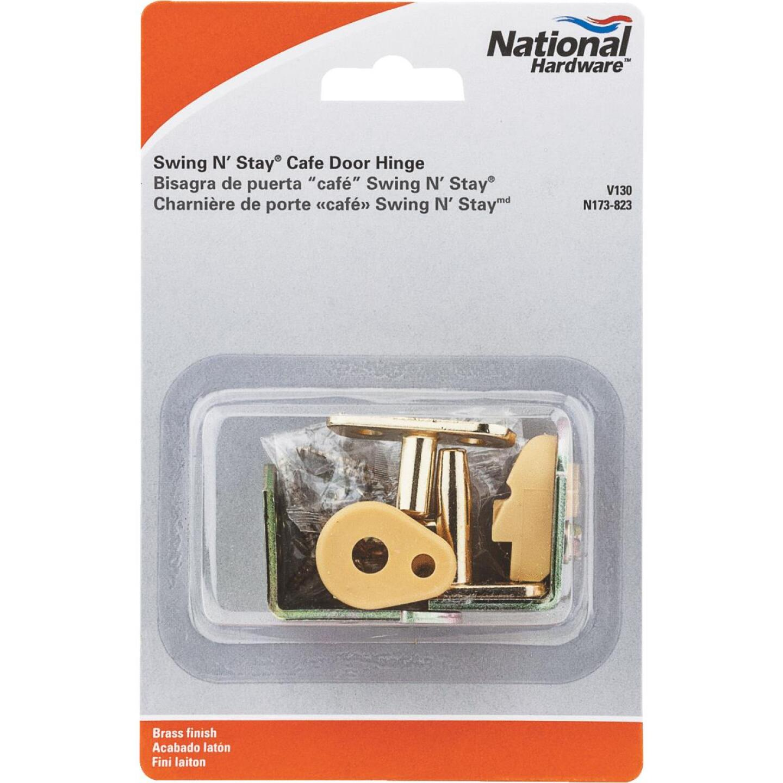 National 3/4 In. to 1-3/8 In. Satin Brass Swing & Stay Door Hinge Image 2