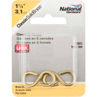 National 1-1/4 In. Brass Light Closed S Hook (2 Ct.) Image 2