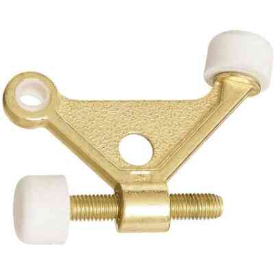 National Bright Brass Zinc Hinge Pin Door Stop