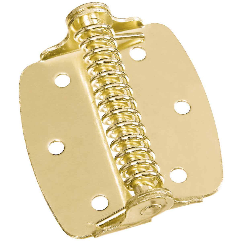 National 2 In. Brass Spring Hinge (2-Pack) Image 1