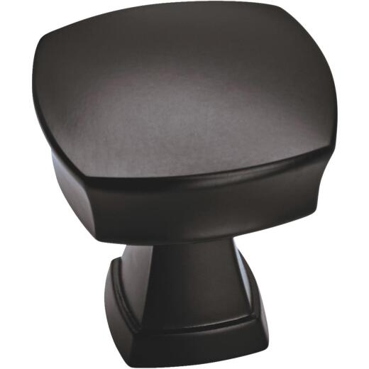 Amerock Allison Value 1-1/4 In. Matte Black Cabinet Knob