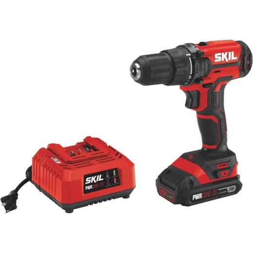 SKIL PWRCore 20 Volt Lithium-Ion 1/2 In. Cordless Drill/Driver Kit