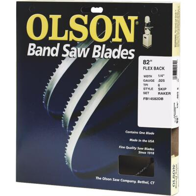 Olson 82 In. x 1/4 In. 6 TPI Skip Flex Back Band Saw Blade