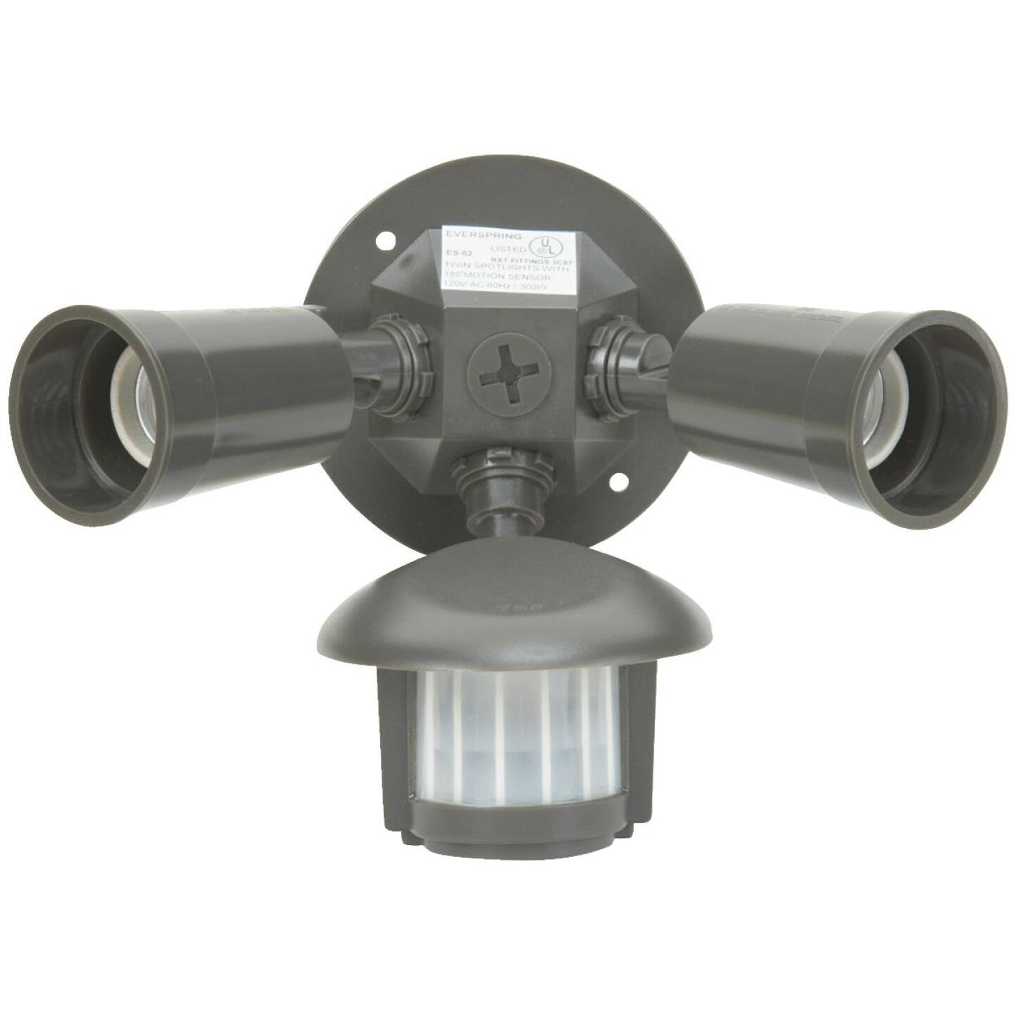 Bronze Motion Sensing Dusk To Dawn Incandescent Floodlight Fixture Image 2
