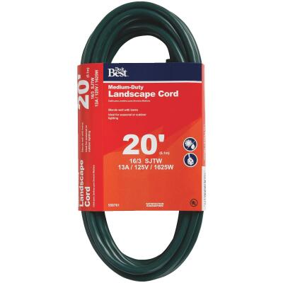 Do it Best 20 Ft. 16/3 Landscape Extension Cord
