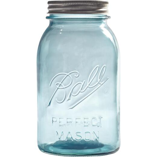 Ball Collector's Edition Quart Regular Mouth Aqua Vintage Canning Jar (4-Count)
