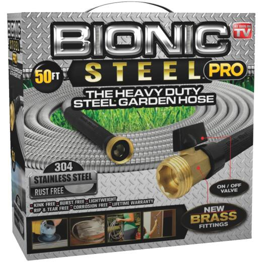 Bionic Steel Pro 5/8 In. Dia. X 50 Ft. L. Garden Hose