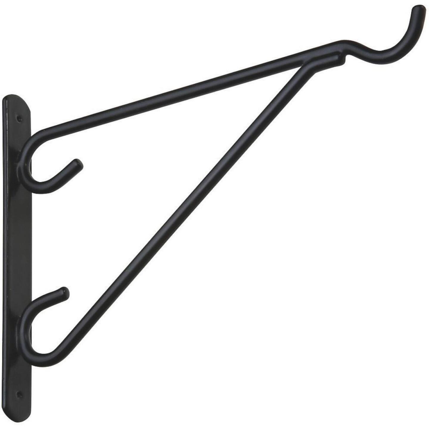 National 12 In. Black Vinyl-Coated Steel Plant Hanger Bracket Image 1